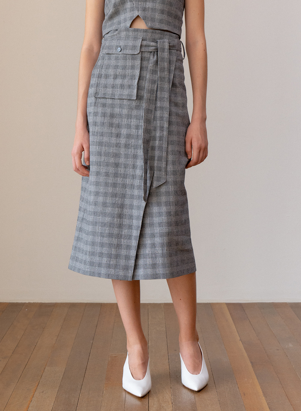SS19 Highwaist Wrap Skirt Gray