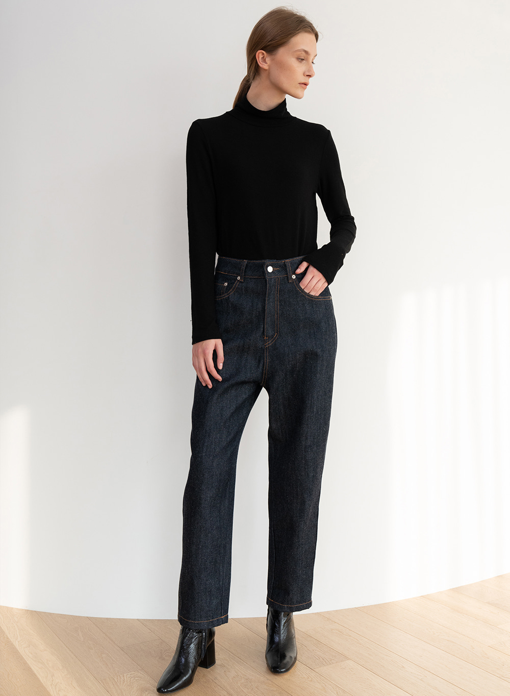 [ESSENTIAL] Bold Twill Rounded Jean Navy