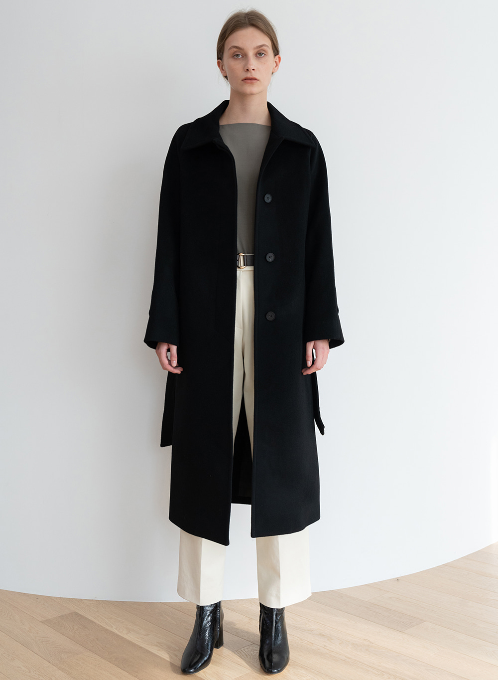 [ESSENTIAL] 캐시미어 Salome Coat Black