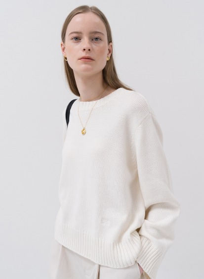 SS20 Plain Pullover Knit Ivory