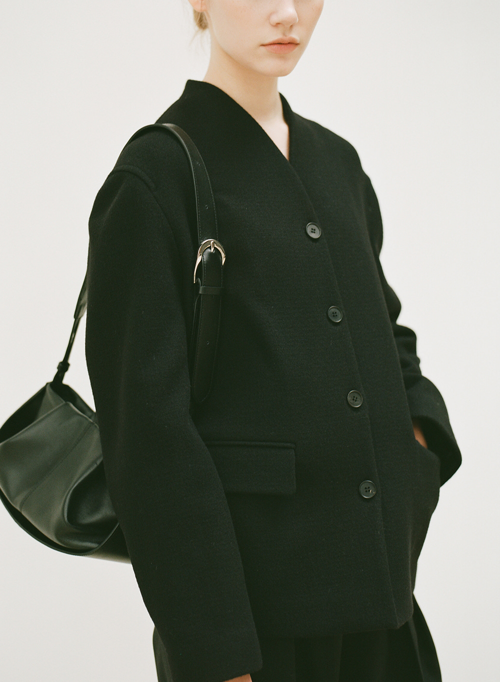 FW20 Stand Collar Jacket Black