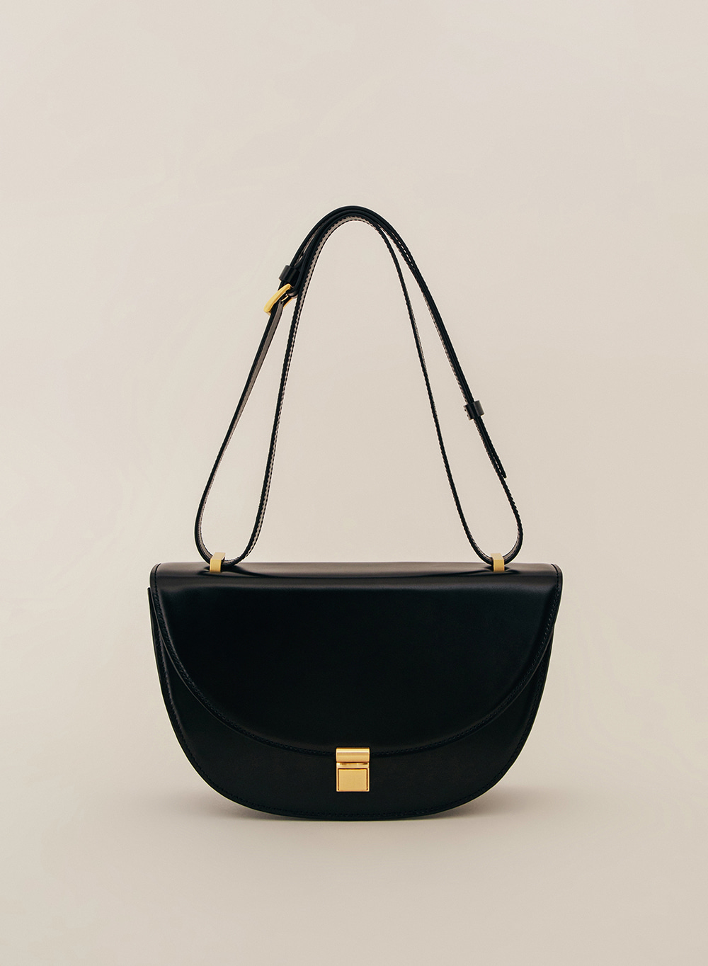 SS21 Classic Italian Leather Crossbody Black