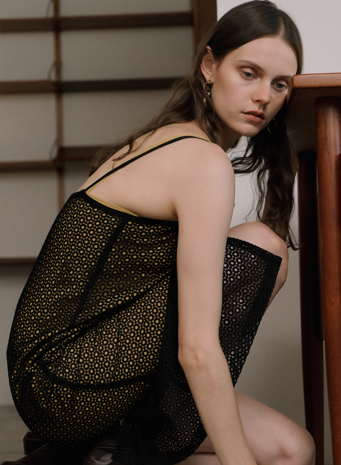 SS18 LACE CAMISOLE BLACK