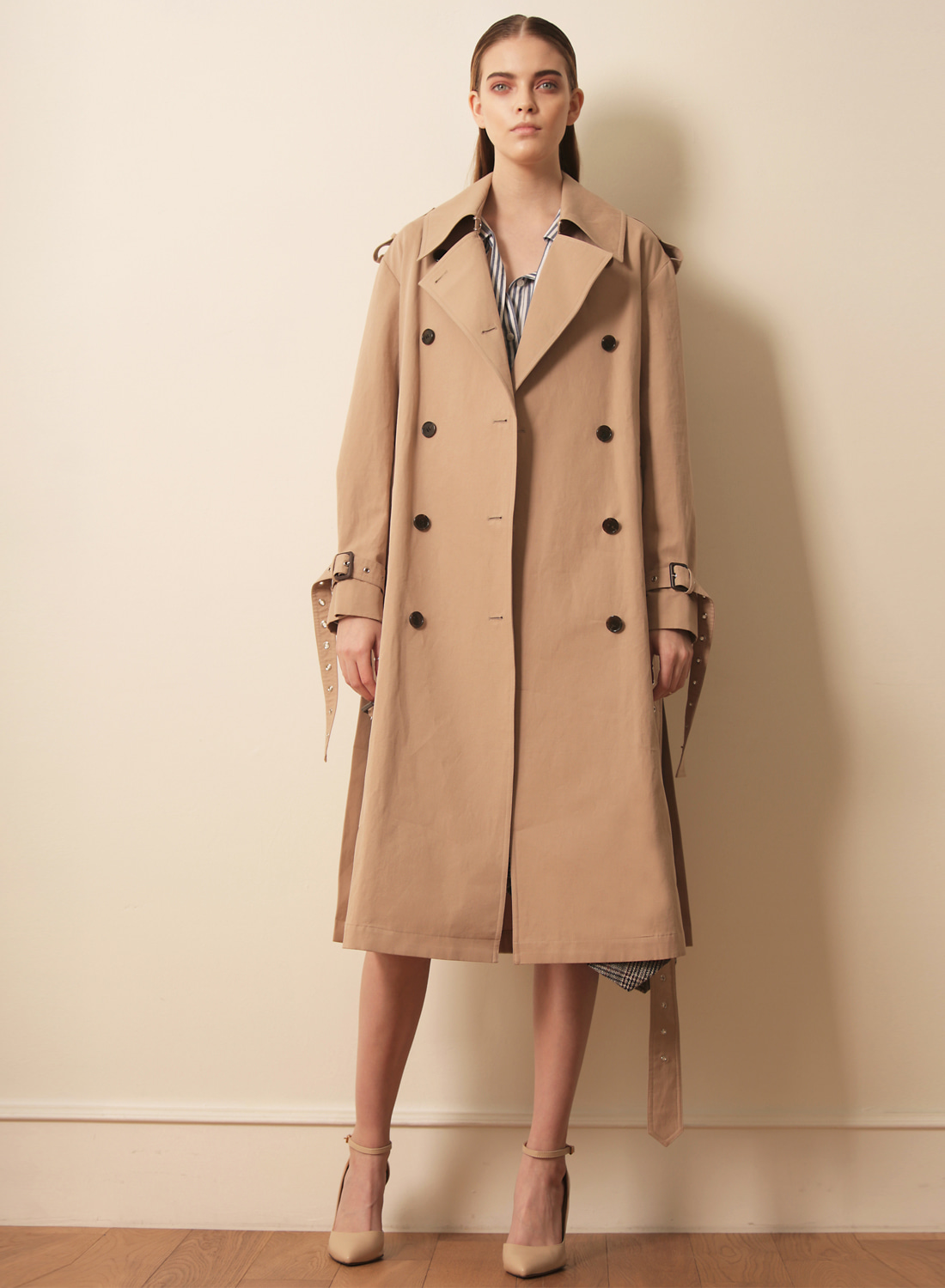 FW17TRENCH COAT BEIGE