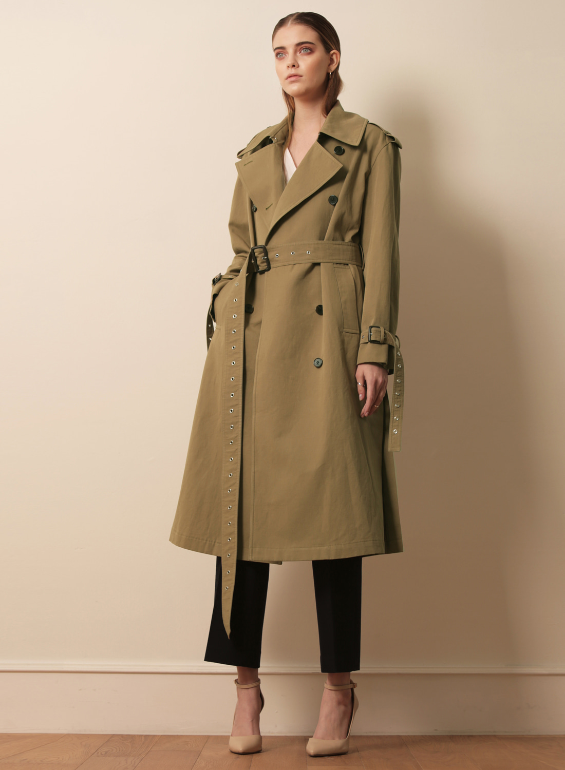 FW17 TRENCH COAT KHAKI