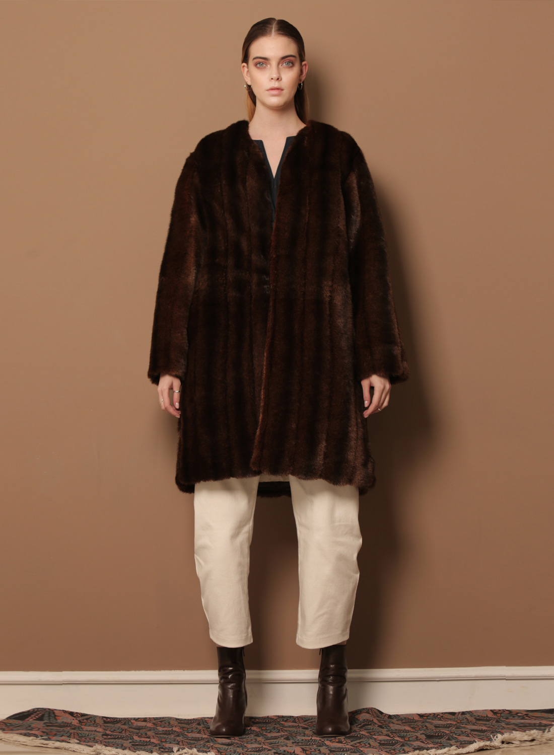 FW17 FAKE MINK FUR COAT