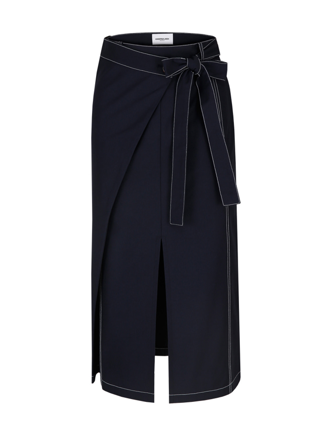 SS18 FOLDING SKIRT NAVY