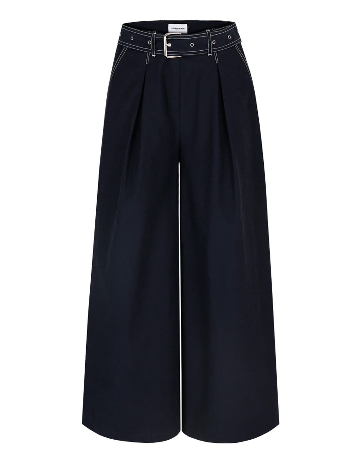 SS18 BELTED CULOTTES NAVY