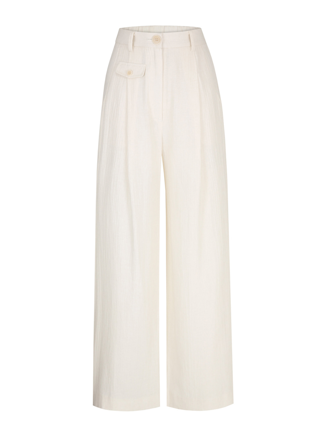 SS18 WIDE PANTS IVORY