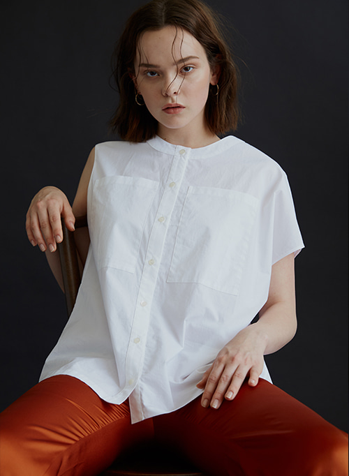 ASYMMETRY SHIRT WHITE