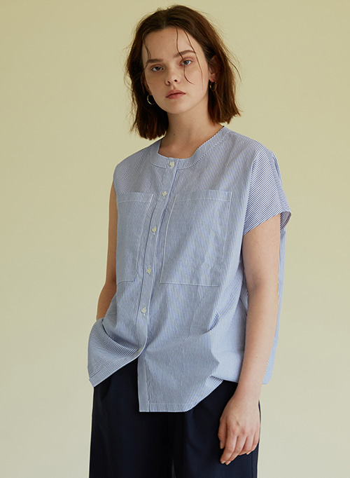 ASYMMETRY SHIRT BLUE