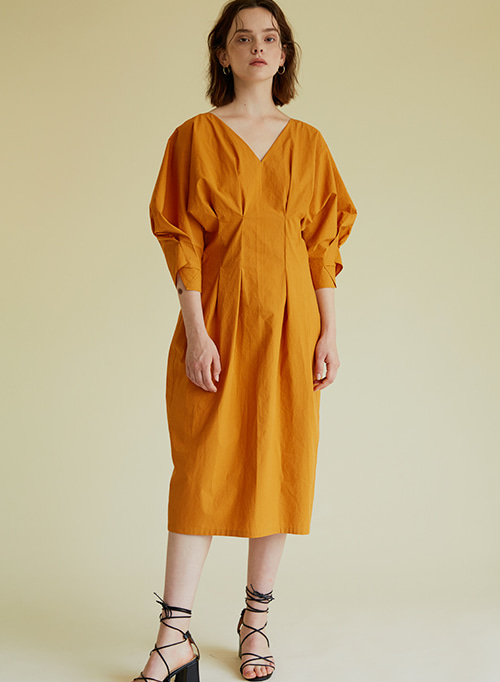 COCOON DRESS ORANGE