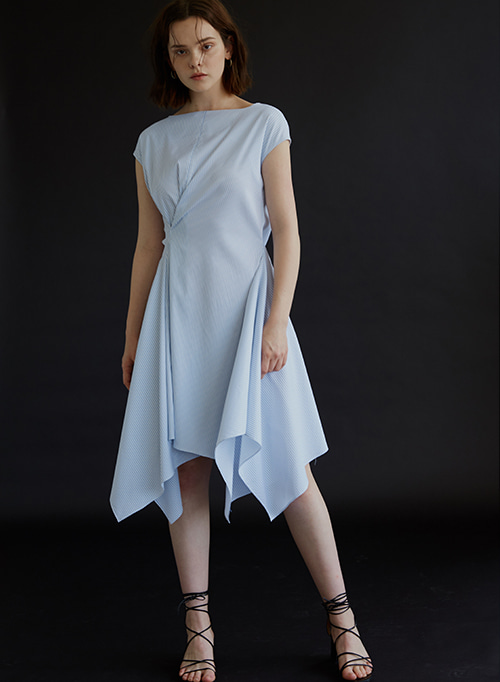 DRAPING DRESS BLUE