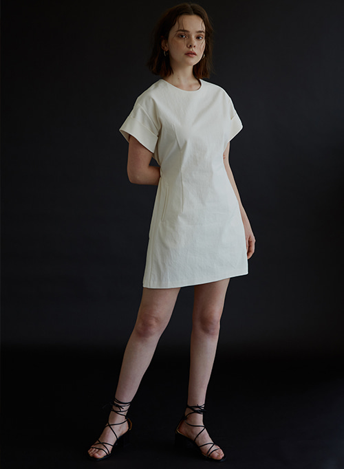 MINIDRESS IVORY