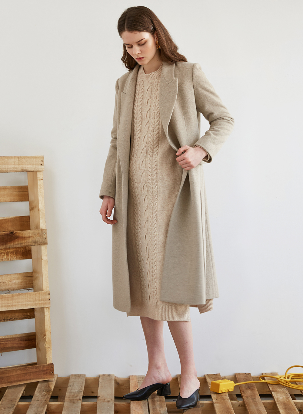 FW18 HIDDEN SINGLE COAT LIGHTBEIGE