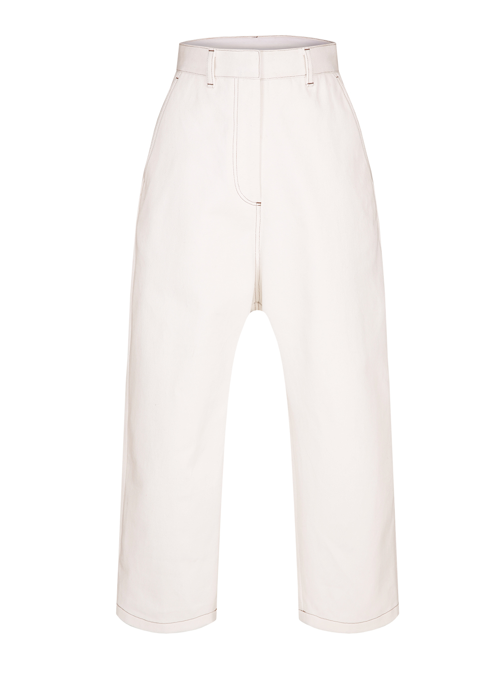 FW18 COCOON PANTS DENIM IVORY