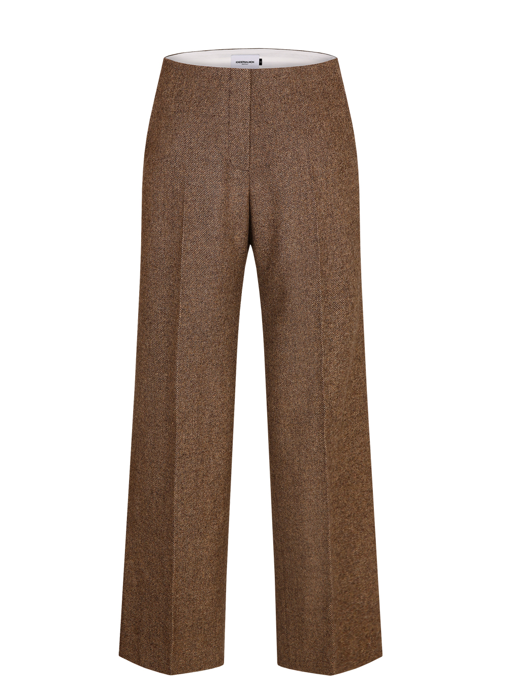 FW18 CLASSIC WOOL PANTS BROWN