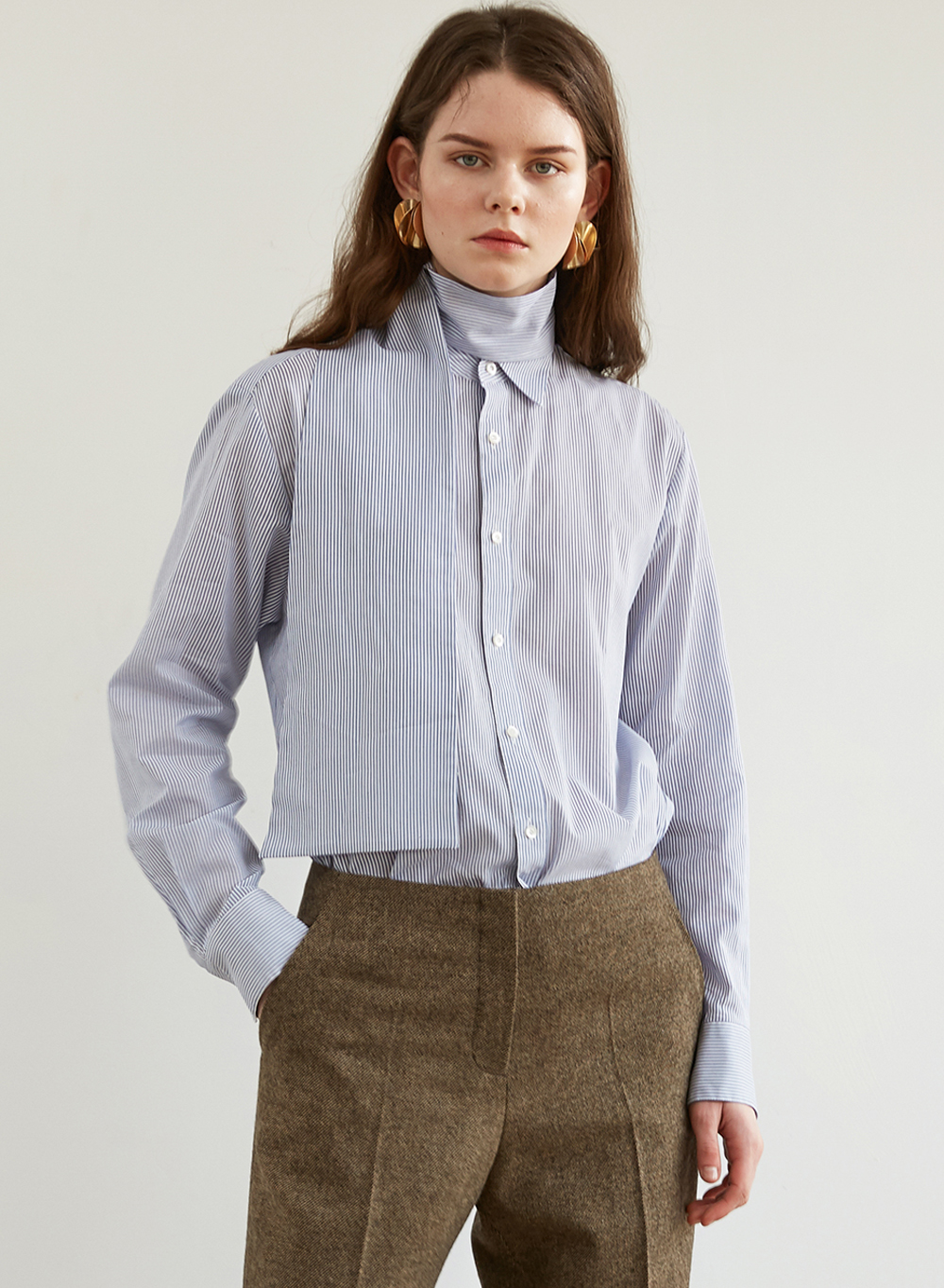 FW18 TIED SHIRT BLUE