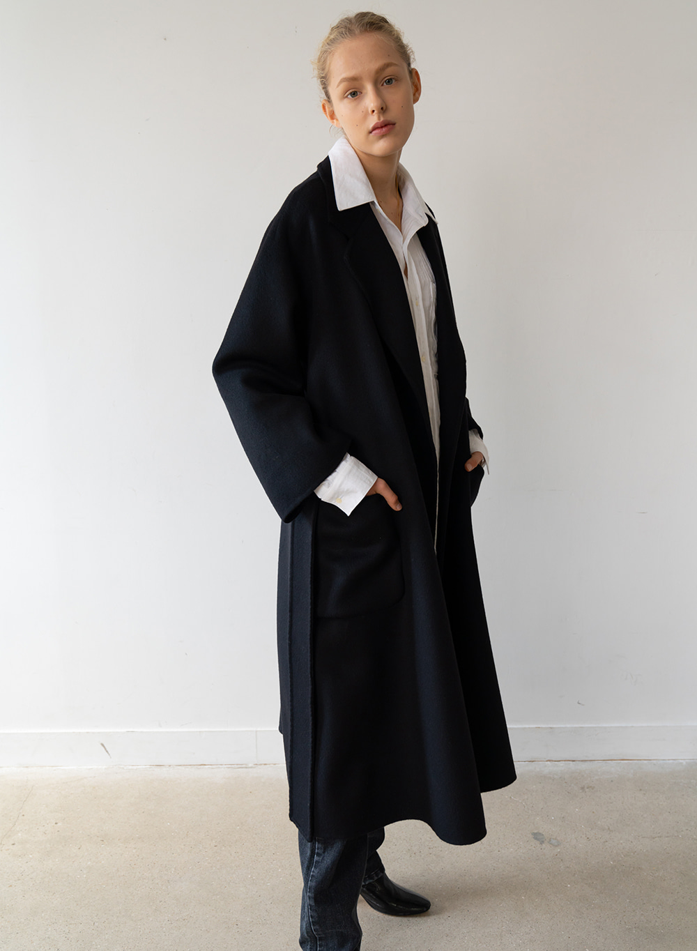 [ESSENTIAL] Handmade Long Coat Black