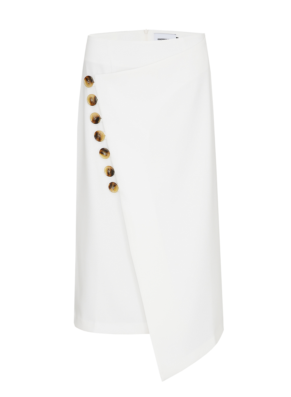 BUTTON WRAP SKIRT IVORY