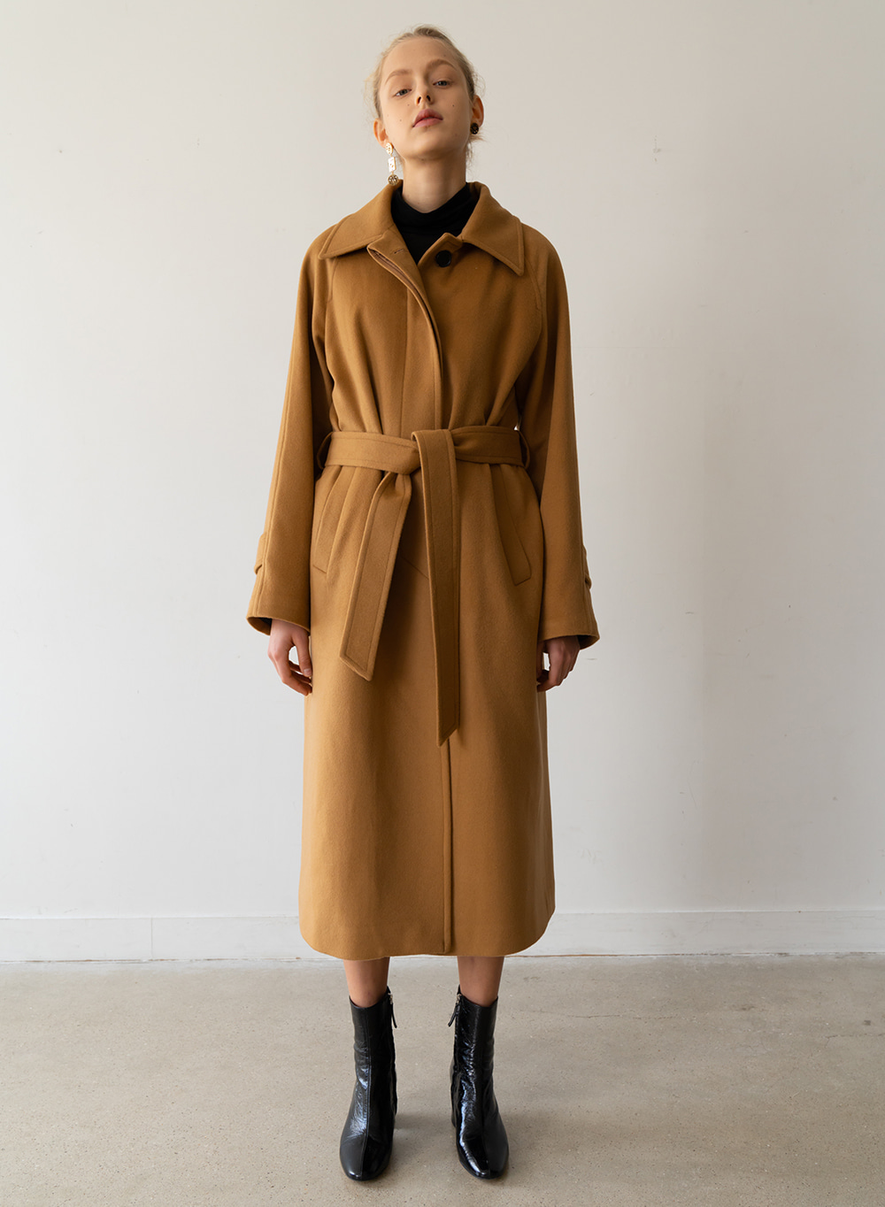 [ESSENTIAL] 캐시미어 Cashmere Single Coat Camel