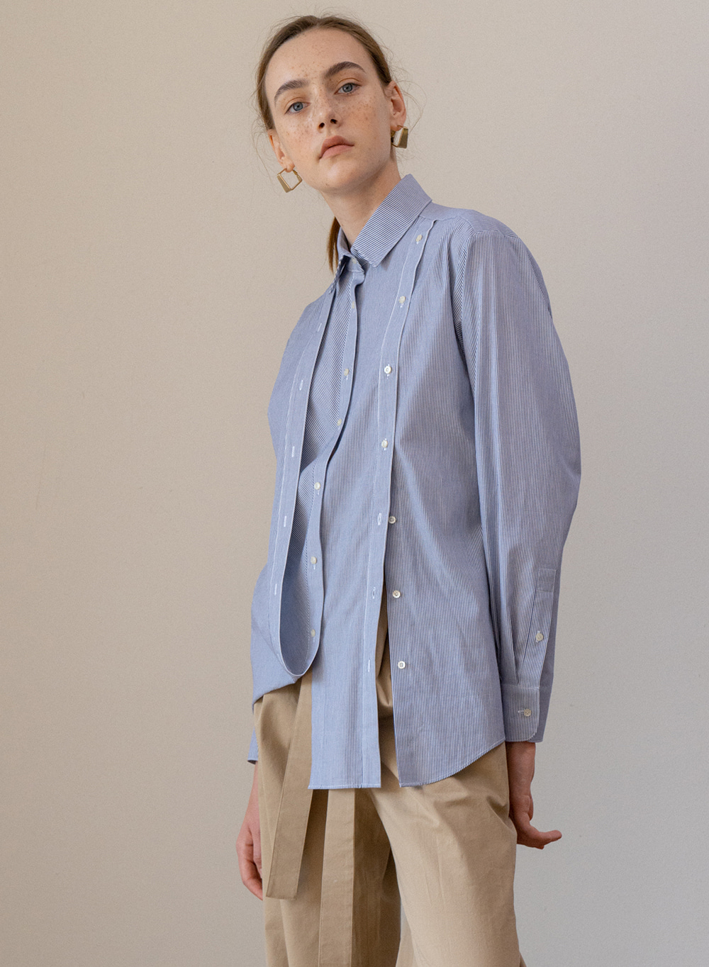 SS19 Folding Detail Shirt Blue
