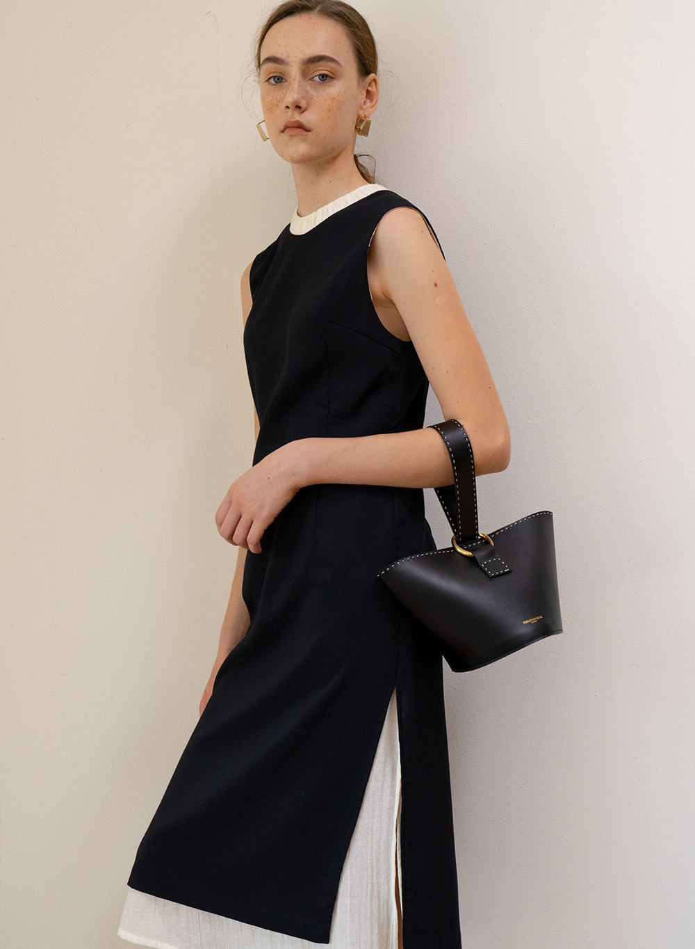 SS19 Layered Dress Black