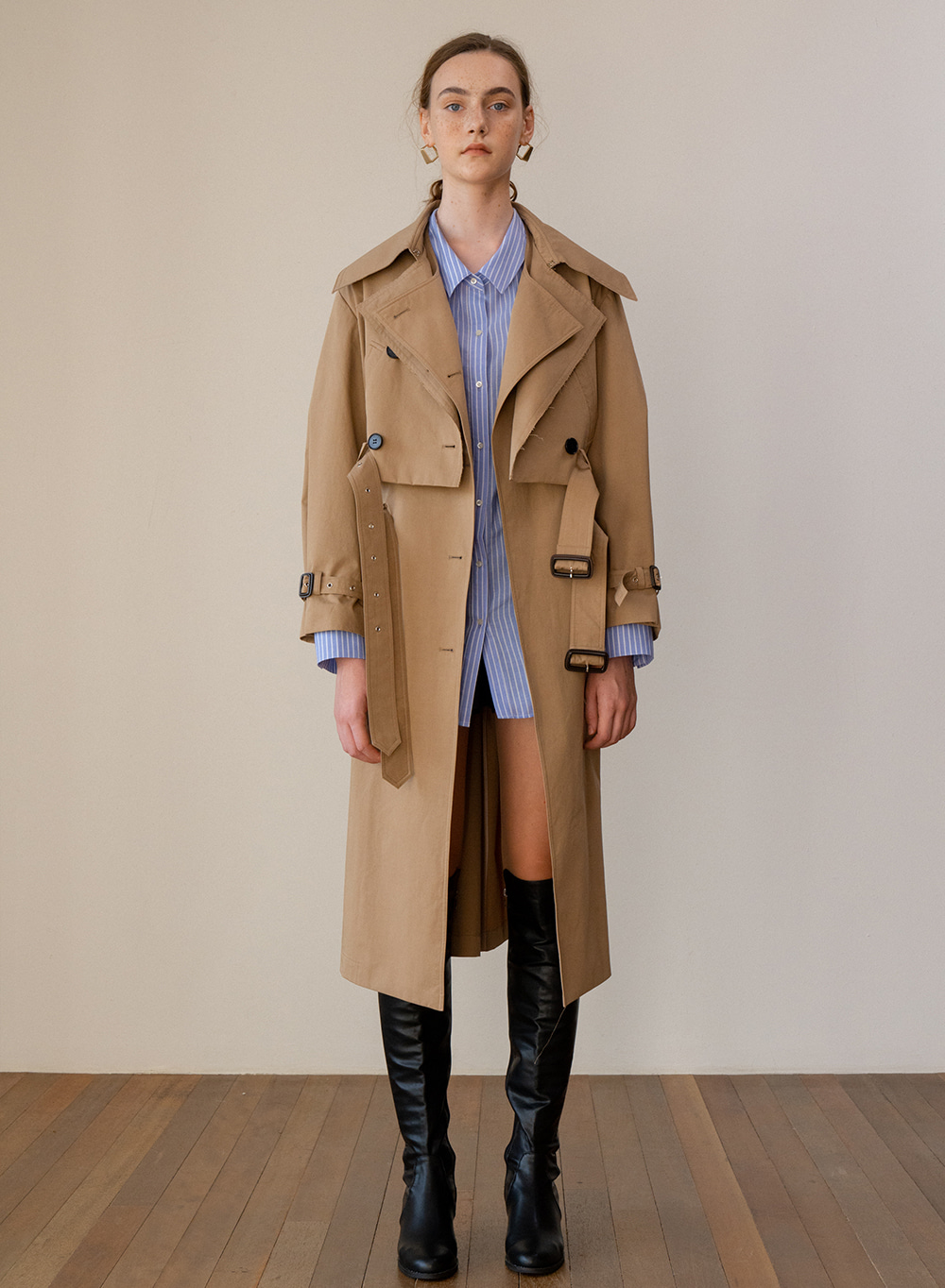 SS19 Layered Classic Trench Coat Beige