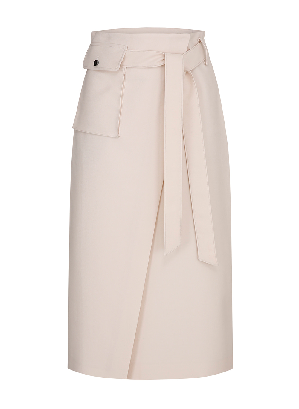SS19 Highwaist Wrap Skirt Cream