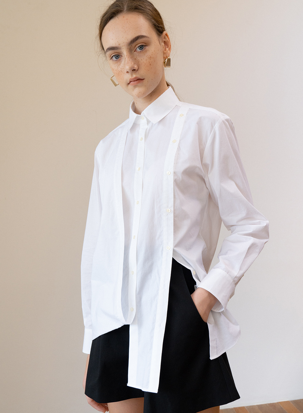 SS19 Folding Detail Shirt White