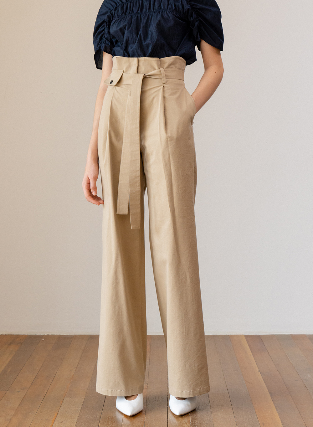 SS19 Highwaist Pants Beige