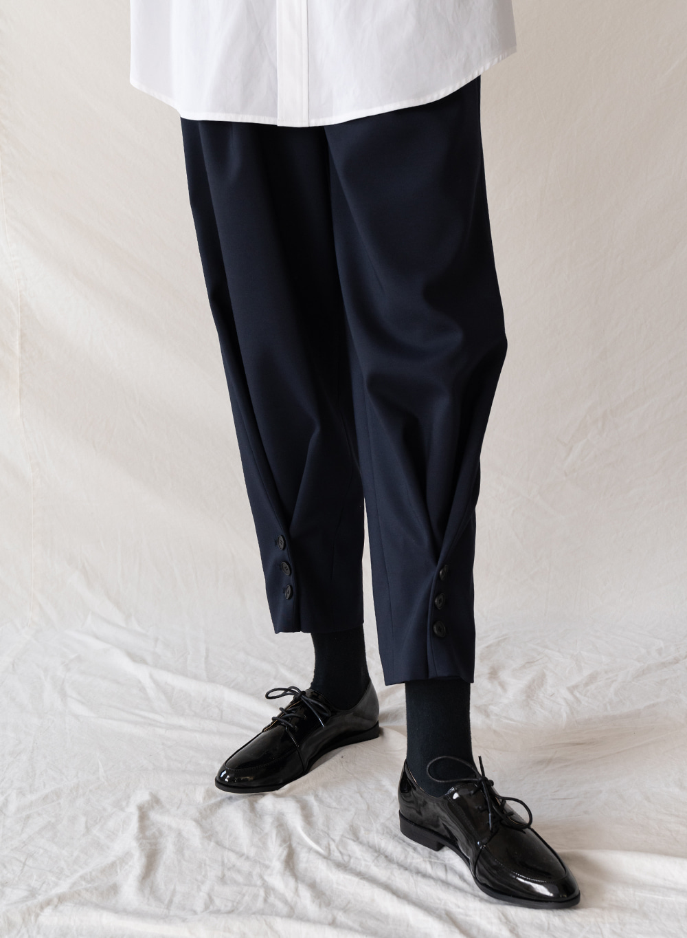 FW19 Folding Pants Dark-navy