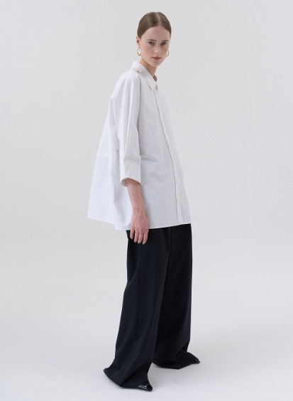 SS20 울 Wool Wide Pants Dark-navy