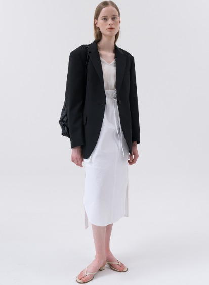 SS20 울 Wool Oversized Single Blazer Black
