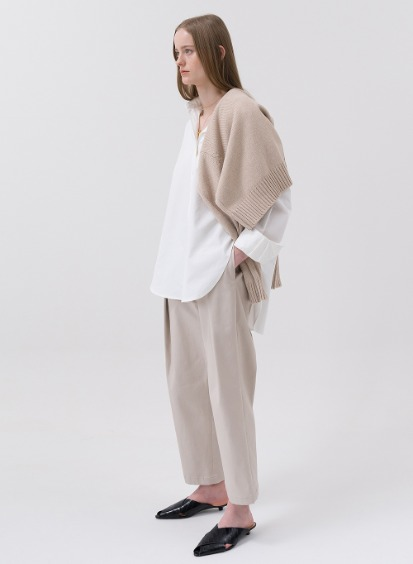 SS20 Structured Tuck Pants Beige
