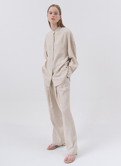 SS20 실크/린넨 Silk Linen Mix Easy Pants Natural