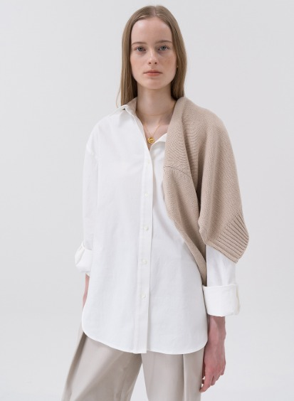 SS20 Oversized Cotton Shirt White
