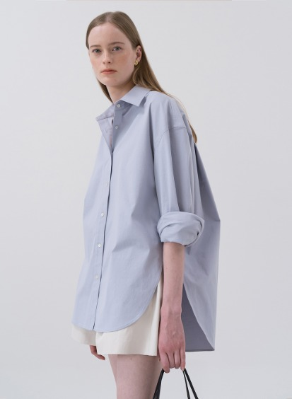 SS20 Oversized Cotton Shirt Blue