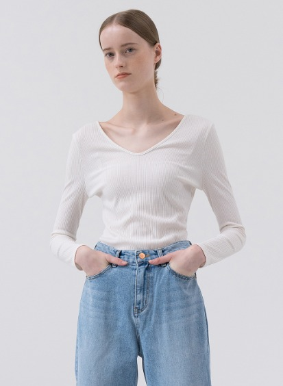 SS20 V-Neck Slim Daywear White