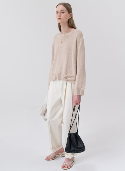 SS20 Two Tuck Pants Ivory