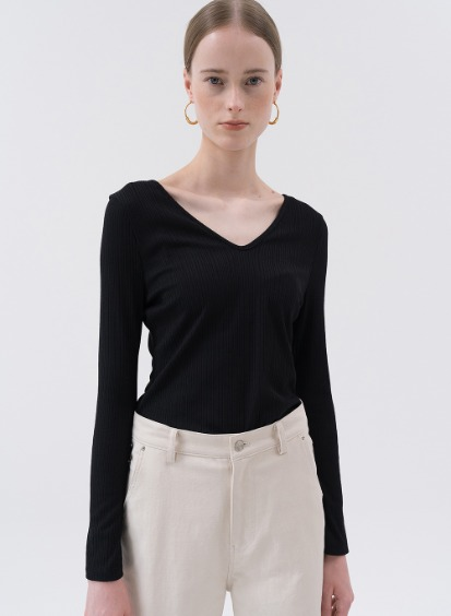 SS20 V-Neck Slim Daywear Black