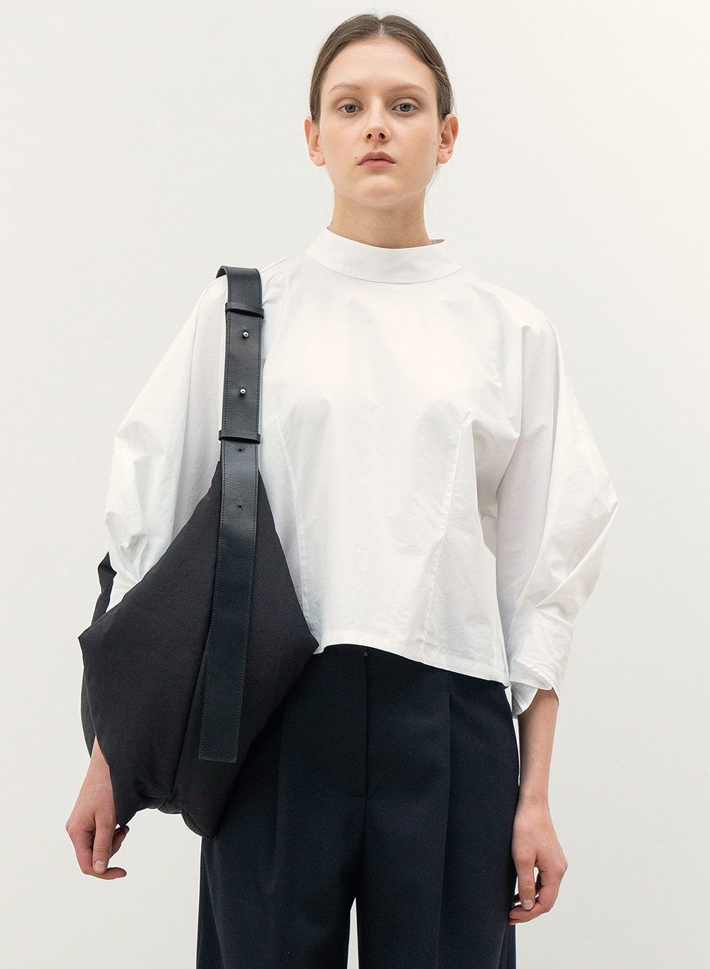 FW20 Mock Neck Blouse White
