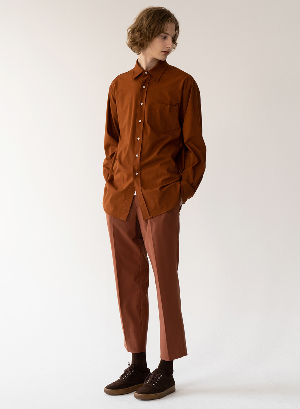 [FW20 ESSENTIAL] Overshirt Orange