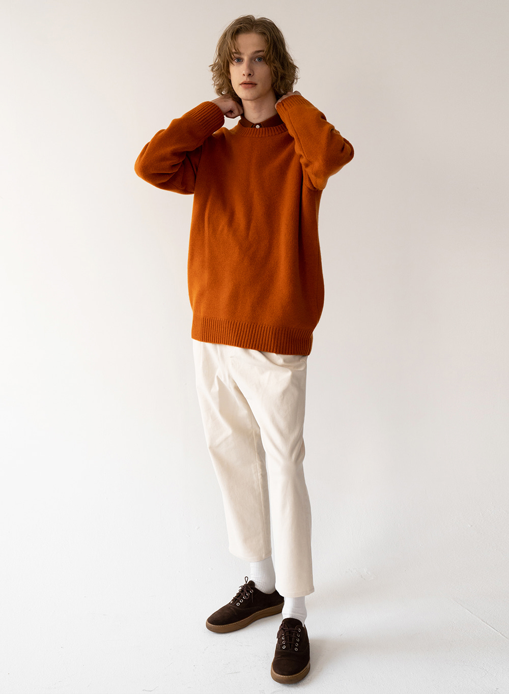 [FW20 ESSENTIAL] 캐시미어 Cashmere Pullover Sunset-orange