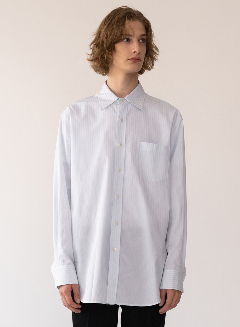 [FW20 ESSENTIAL] Premium Overshirt from Italy (CANCLINI) Stripe