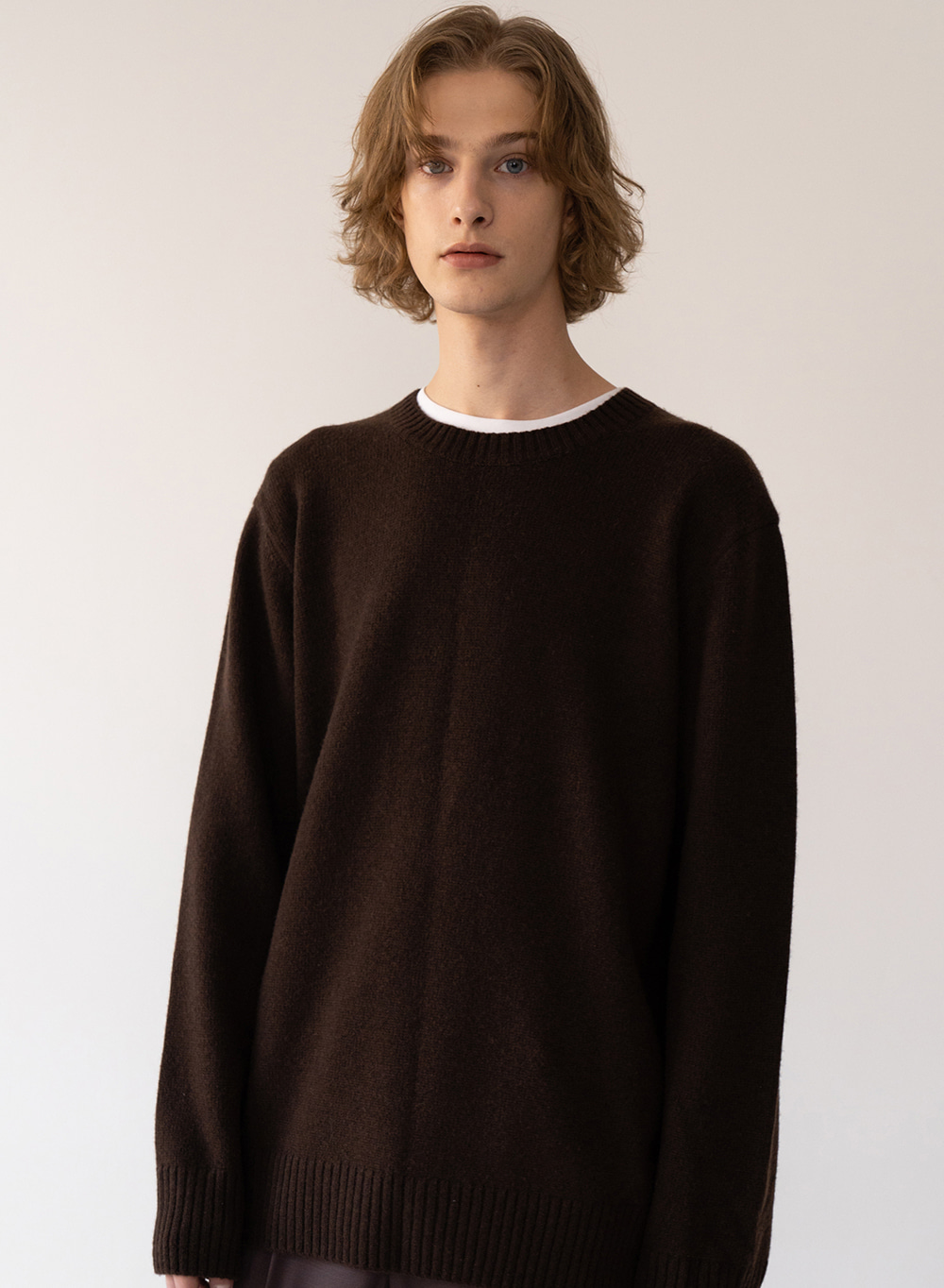 [FW20 ESSENTIAL] 캐시미어 Cashmere Pullover Dark-brown