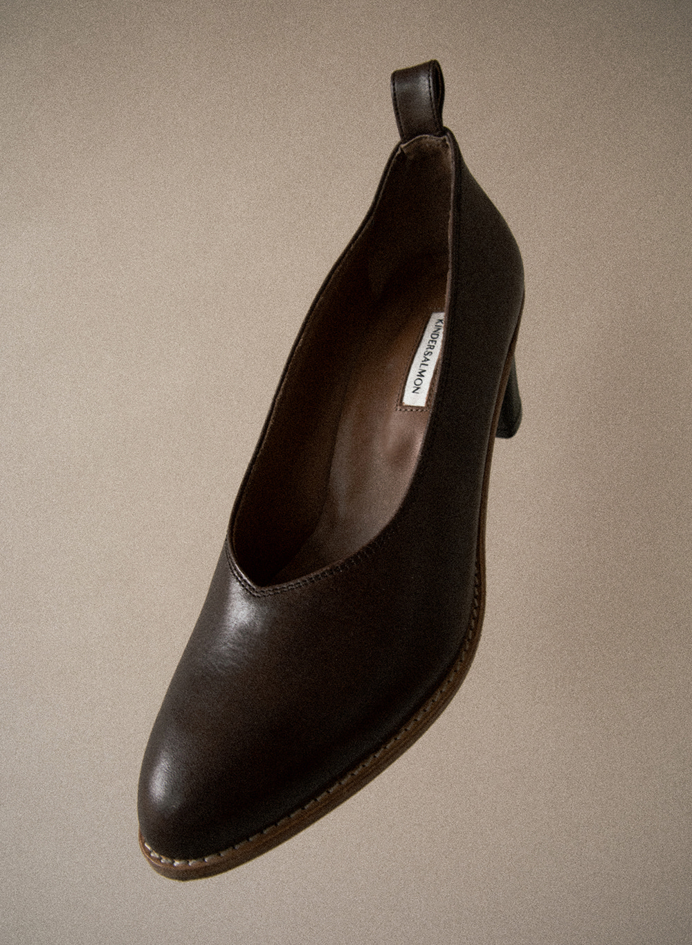 [FW20 ESSENTIAL] 세실 Cecil Italian Leather Pumps Dark Brown