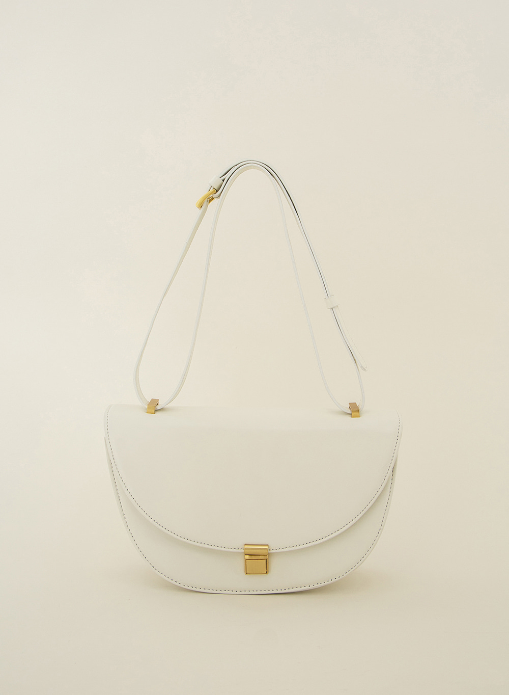 SS21 Classic Italian Leather Crossbody Cream