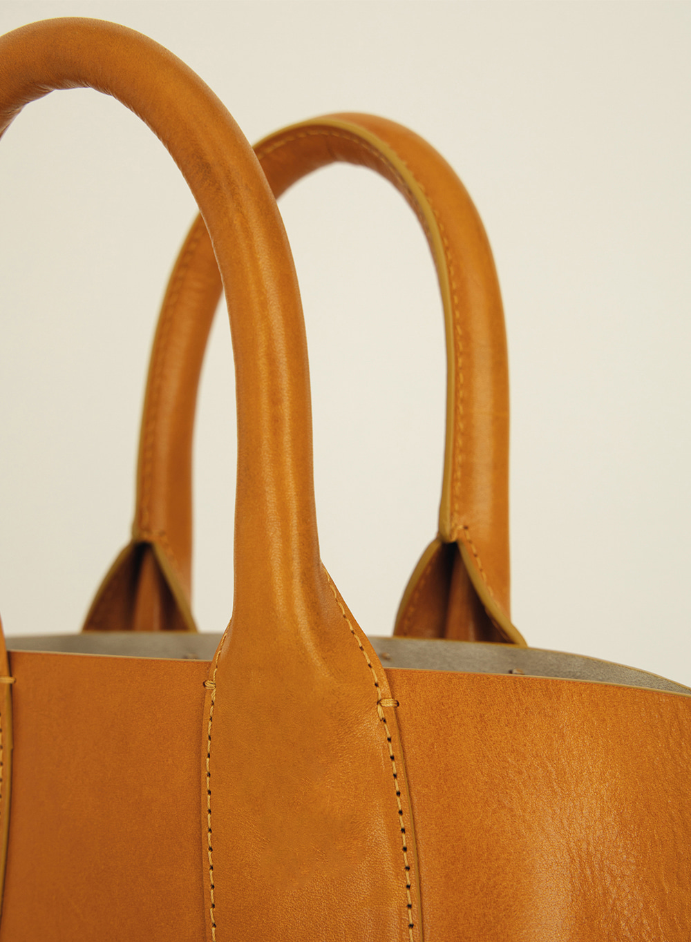 SS21 Italian Leather Small Basket Tote Tan