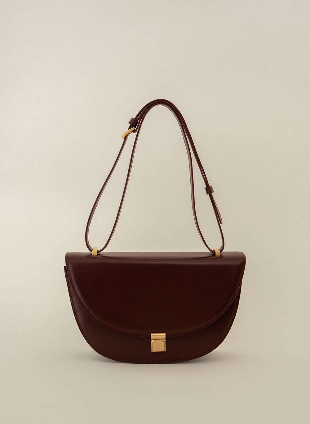 SS21 Classic Italian Leather Crossbody Burgundy